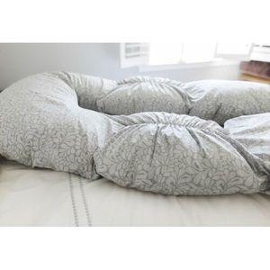 LEACHCO Back N Belly Bunchie Pregnancy Pillow Gray